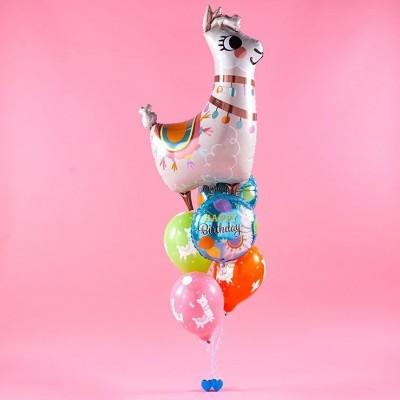 Фонтан из шаров на День Рождения Лама