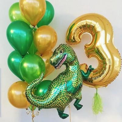 Шарики 3 года мальчику Динозавр