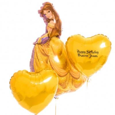 Шар Принцесса Бель и шары с надписью