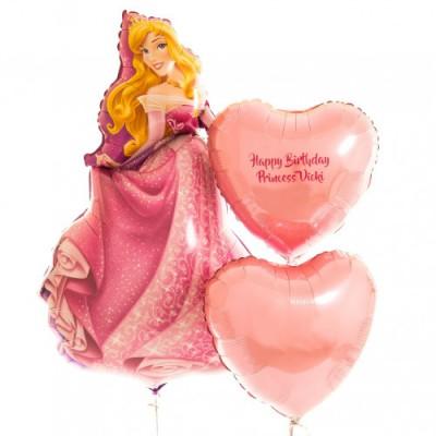 Шар Принцесса Аврора и шары с надписью