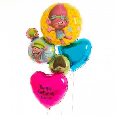 Фольгированный шар Тролли и шар с надписью