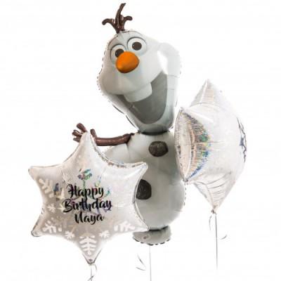 Воздушный шар Олаф и шары с надписью