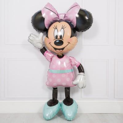 Ходячие шары Минни Маус в розовом платье