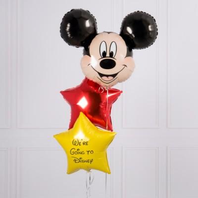 Фольгированный шар Микки Маус и шар с надписью