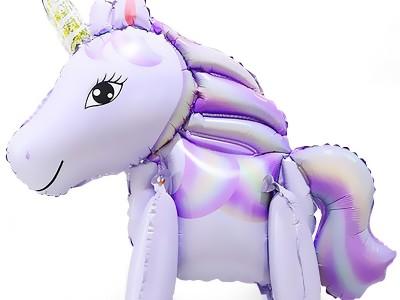 Ходячие шары Единорог фиолетовый