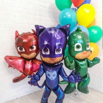 Ходячие шарики Герои в масках и фонтан из шаров