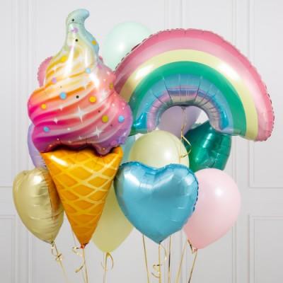 Воздушный шар Мороженое и букет из шаров