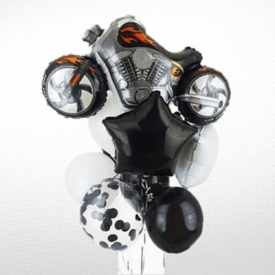 Шарик мотоцикл и фонтан из шаров