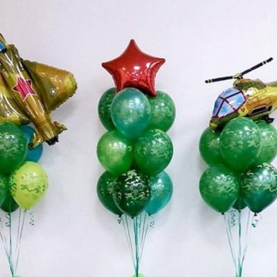 Фонтан из шариков на 23 февраля
