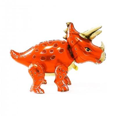 Воздушные шары динозавры Трицератопс ходячий