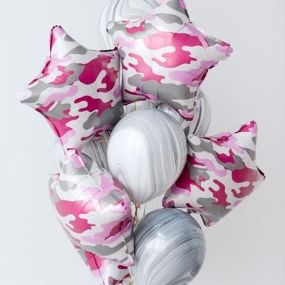 Воздушные шары на 23 февраля для девушки