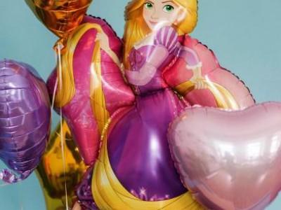 Шар Рапунцель и шары из фольги