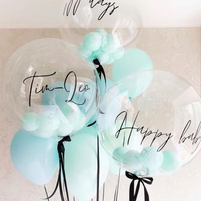 Шарики баблз с шарами внутри и надписью