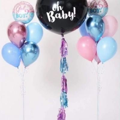 Гендерный шар и фонтаны из шаров