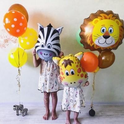 Воздушные шары на день рождения ребенка Зоопарк
