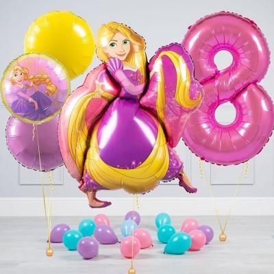 Шар Рапунцель и шары на 8 лет
