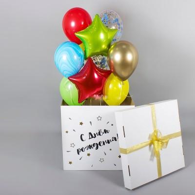 Большая коробка с шариками