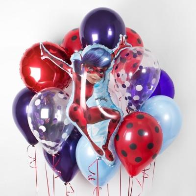 Шары Леди Баг в композиции из шаров