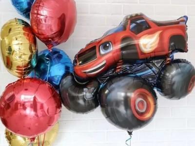Воздушный шар Вспыш и фонтан из шаров
