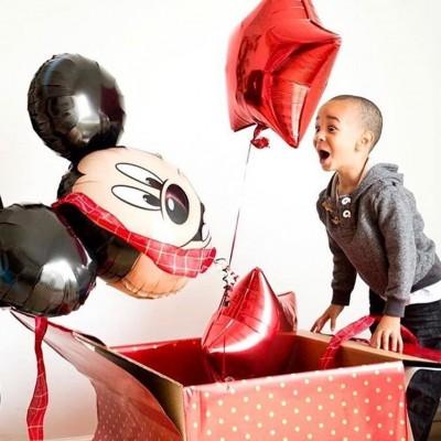 Коробка с воздушными шарами Микки Маус