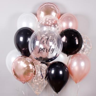 Черно розовые шары