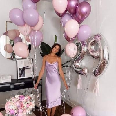 Фонтаны из шаров для девушки с цифрами