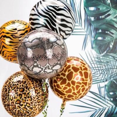 Воздушные шары животные Сафари сферы