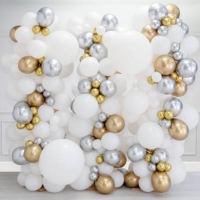 Стена из шаров стильный металлик 2,5*2,5м