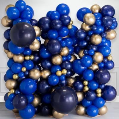 Фотозона из воздушных шаров голубой сапфир 2,5*2,5м