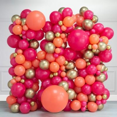 Стена из шаров фламинго 2,5*2,5м