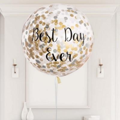Большой шар с надписью на свадьбу