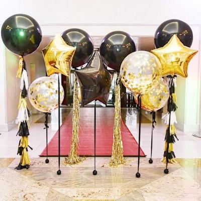 Воздушные шарики на выпускной