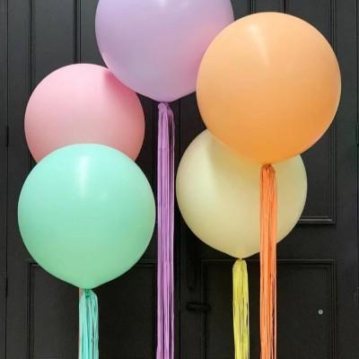 Большие шарики с гелием Макарон