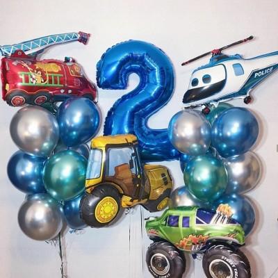 Воздушные шары машины на 2 года