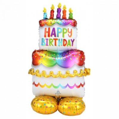 Воздушный шар торт большой