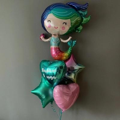 Воздушные шары Русалка