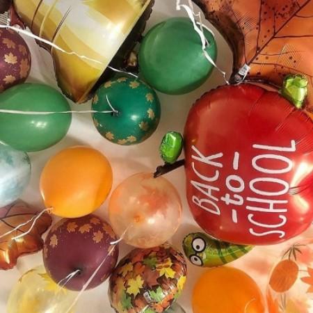 Воздушные шарики в школу