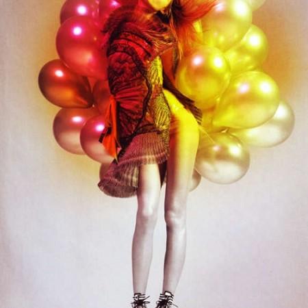 Причудливые фотосессии с воздушными шарами